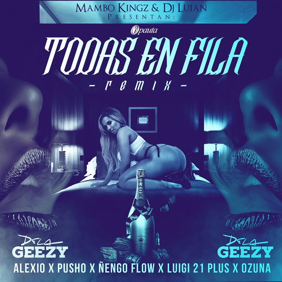 cover TodasEnFilaRemix tebanmusic ipauta De La Ghetto Ft Nengo Flow, Lui-G 21 Plus, Ozuna, Alexio La Bestia, Y Pusho - Todas En Fila (Official Remix)