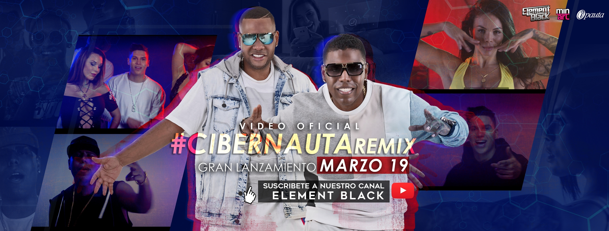 cibernauta remix element black juan fernando quintero landa freak 2016 video youtube tebanmusic ipauta